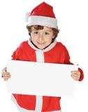 прелестное рождество мальчика стоковое изображение rf