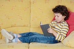 прелестное чтение мальчика Стоковое фото RF
