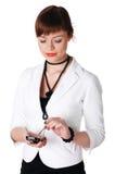 Прелестно женщина дела брюнет Стоковые Фотографии RF
