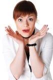 Прелестно женщина дела брюнет Стоковые Изображения RF