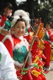 прелестно китайский танцор Стоковое Изображение RF