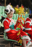 прелестно китайский танцор Стоковое Изображение