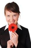 Прелестно молодая женщина дела Стоковое Изображение RF