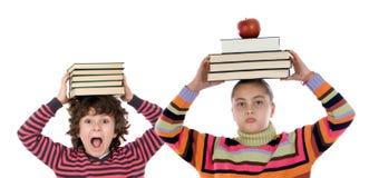 прелестные дети книг много Стоковое Изображение RF