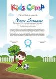 Прелестный диплом летнего лагеря детей иллюстрация вектора