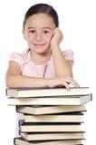 прелестный изучать девушки Стоковая Фотография