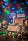 Прелестный коттедж пряника рождества Стоковая Фотография