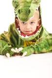 прелестный крокодил costume мальчика Стоковая Фотография RF