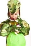 прелестный крокодил costume мальчика Стоковые Фото