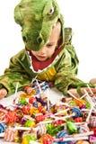прелестный крокодил costume мальчика Стоковое фото RF
