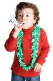 прелестный мальчик празднуя торжество Стоковая Фотография
