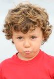 прелестный мальчик унылый Стоковые Фото