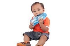 Прелестный один год с рождения ребенок Стоковое фото RF
