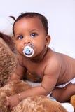 прелестный ребёнок афроамериканца немногая стоковая фотография
