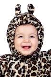 Прелестный ребёнок с costume леопарда Стоковая Фотография RF