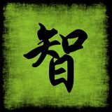 премудрость китайца каллиграфии установленная Стоковое Фото
