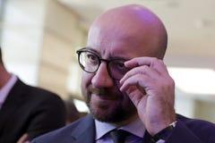 Премьер-министр Бельгии Чарльза Мишеля Стоковая Фотография