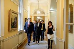Премьер-министр Великобритании Терезы может Стоковые Изображения RF