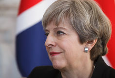Премьер-министр Великобритании Терезы может Стоковые Фото