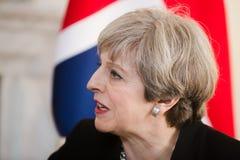 Премьер-министр Великобритании Терезы может Стоковое Изображение RF