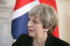 Премьер-министр Великобритании Терезы может Стоковые Изображения