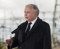 Премьер-министр Jaroslaw Kaczynski бывший Польши Стоковая Фотография RF