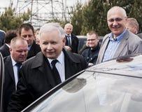 Премьер-министр Jaroslaw Kaczynski бывший Польши Стоковые Изображения RF