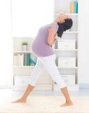 Пренатальная йога. Стоковая Фотография RF