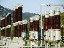 преобразование подстанции электричества Стоковая Фотография