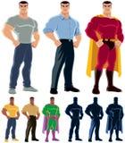 Преобразование супергероя Стоковое Изображение