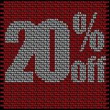 [преобразованный]Sale wall made from small red sales. Sale wall made from small red sales words royalty free illustration