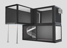 Преобразованный старый контейнер для перевозок, иллюстрация 3d изолировал серый цвет бесплатная иллюстрация