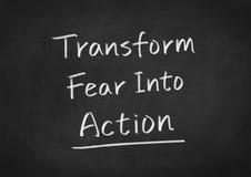 Преобразуйте страх в действие бесплатная иллюстрация