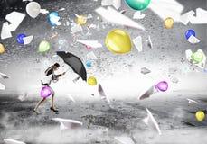 Преодолевать возможности и кризис Мультимедиа Мультимедиа Стоковое Изображение