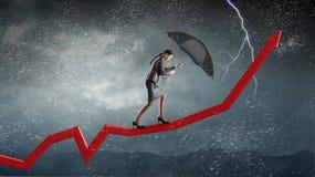 Преодолевать возможности и кризис Мультимедиа Мультимедиа Стоковые Фото