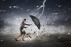 Преодолевать возможности и кризис Мультимедиа стоковое изображение