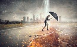 Преодолевать возможности и кризис Мультимедиа Стоковая Фотография