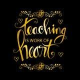 Преподавательство работа оформления сердца иллюстрация вектора