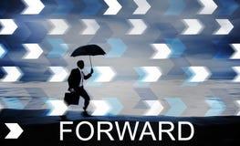 Препровождайте концепцию развития изменения вперед Стоковое Изображение RF