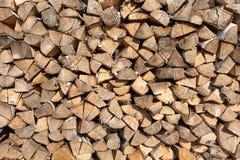 Прерванная деревянная предпосылка журналов Стоковые Фото