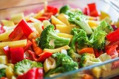 Прерванная картошка с смешанными овощами Стоковое Изображение