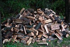 прерванная древесина кучи Стоковые Изображения RF