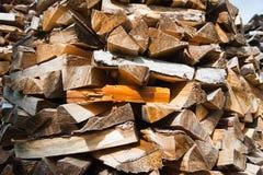 Прерванная древесина на зима Стоковые Изображения RF
