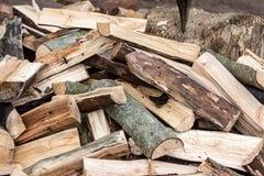 Прерванная штабелированная древесина Стоковое фото RF
