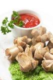 прерванные зажаренные овощи специй сосисок Стоковое фото RF
