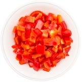 Прерванные красные Capsicums III Стоковое Изображение RF