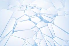 Прерванный голубой лед. Стоковая Фотография