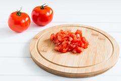 Прерванный зрелый красный томат Стоковое Изображение