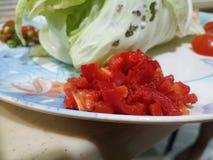 Прерванный красный болгарский перец Стоковая Фотография RF