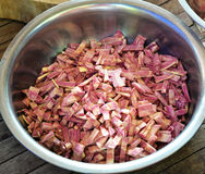Прерванный разделением пурпур батата Стоковые Изображения RF